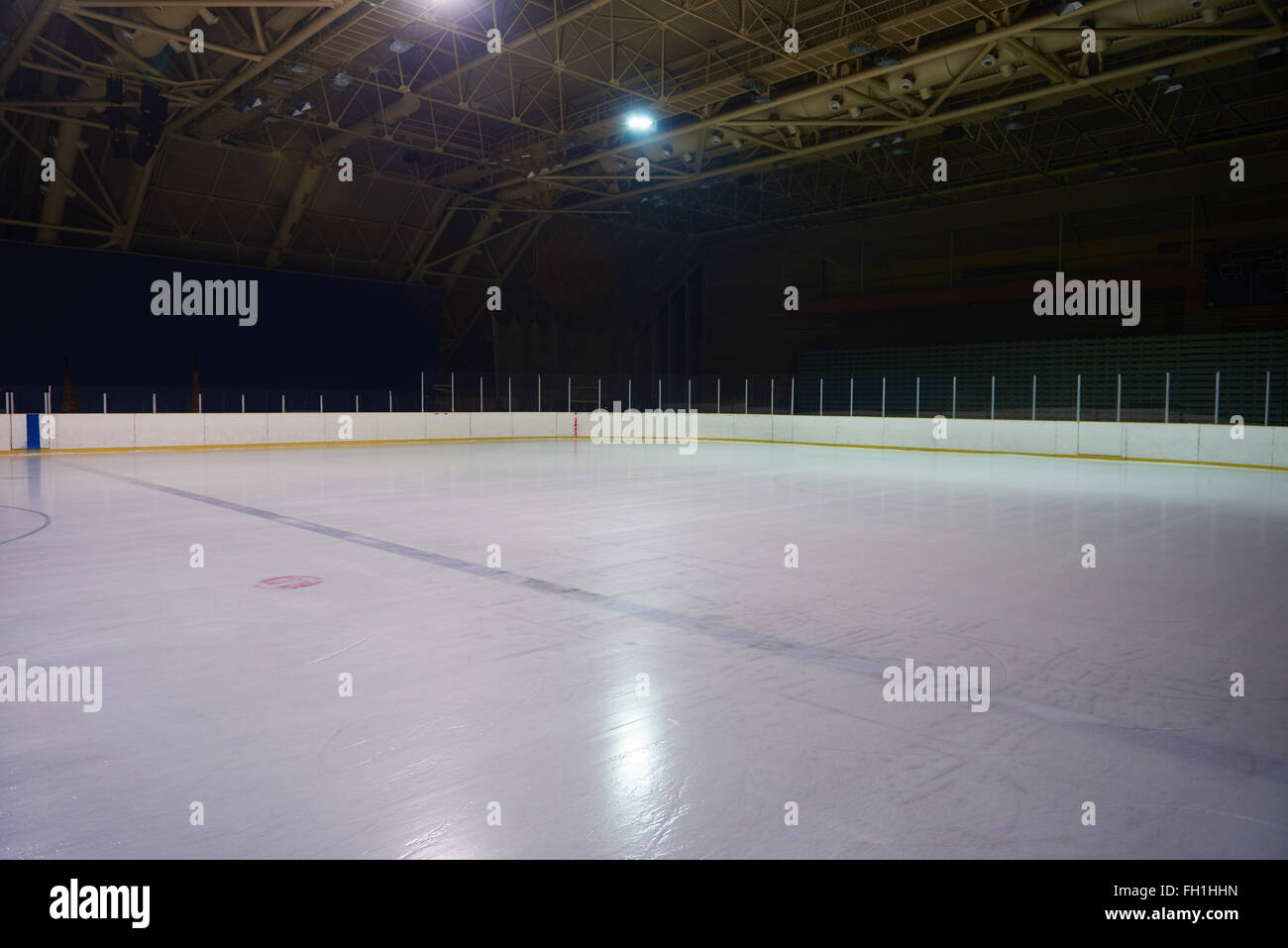hight resolution of empty ice rink hockey arena stock image