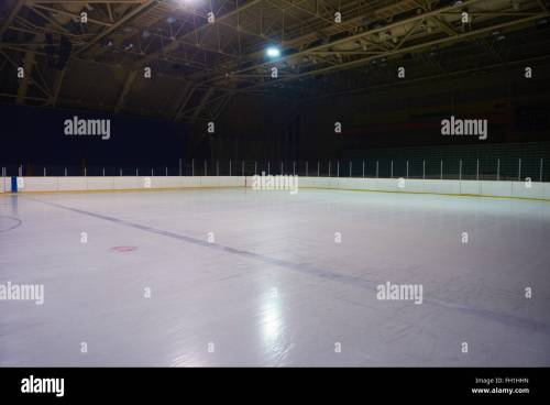 small resolution of empty ice rink hockey arena stock image