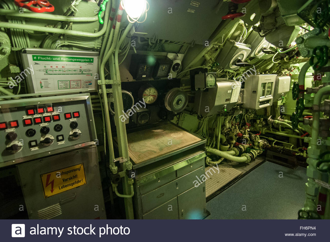 hight resolution of inside the u boat stock image