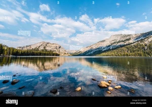 Tenaya Lake Yosemite National Park California Usa North America Stock 96833266 - Alamy