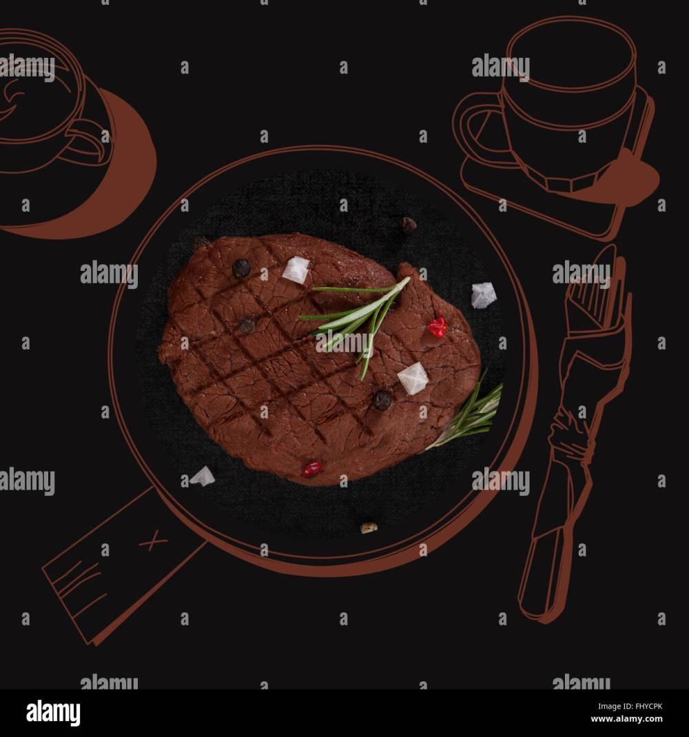 medium resolution of fine dining exquisite luxurious gastronomy background delicious steak stock image