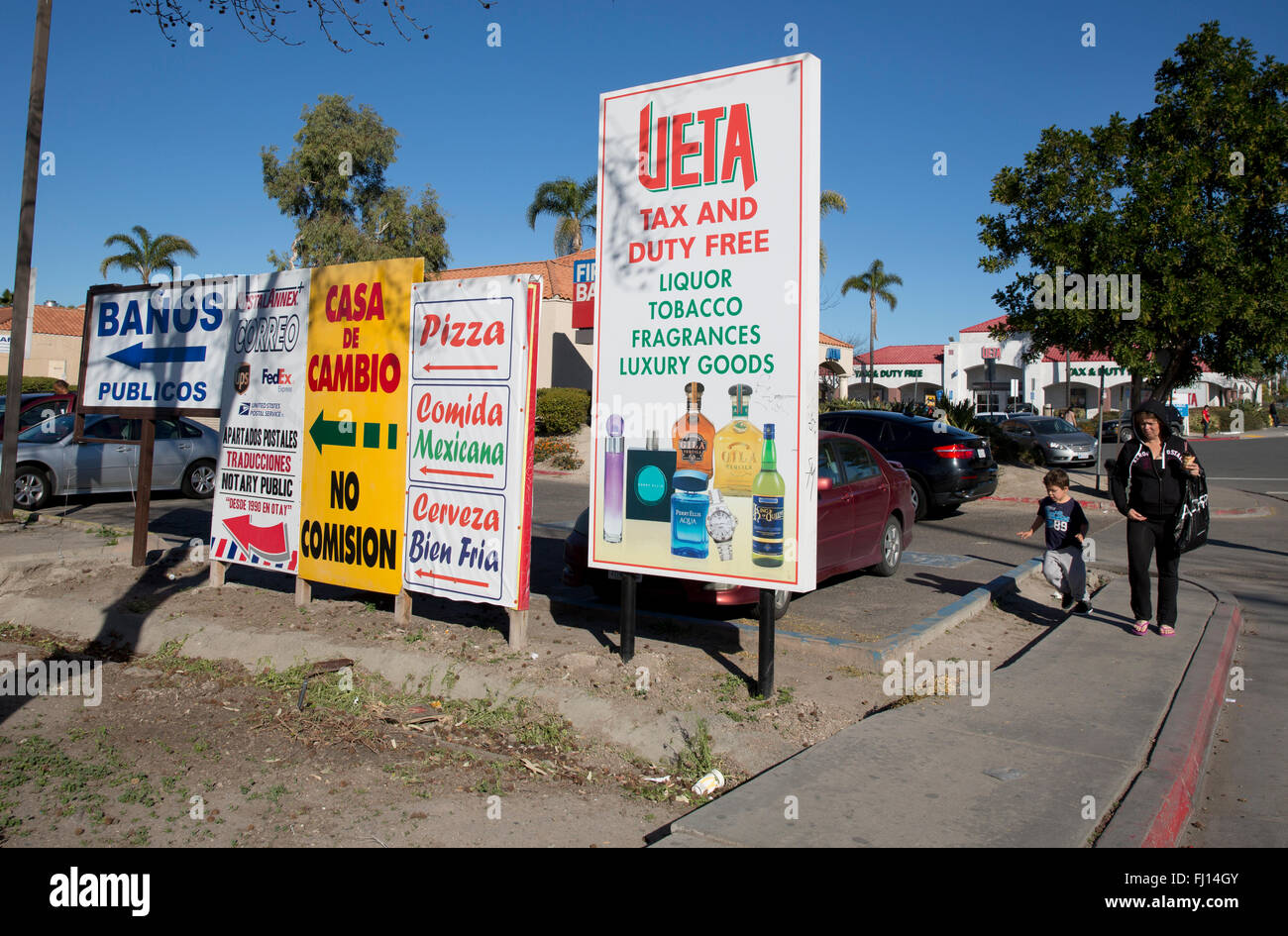 Advertising in Otay Mesa California on the border with
