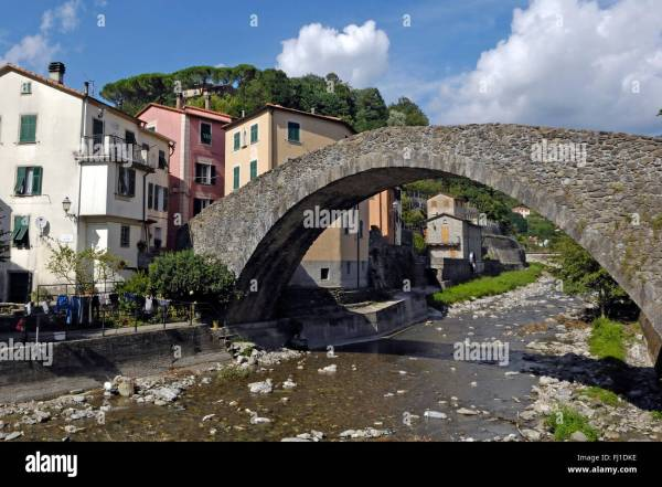 Grexino Bridge at Varese Ligure Province of La Spezia