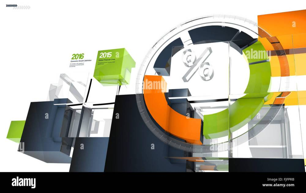 medium resolution of illustration of a futuristic 3d circular infographic chart or graph showing growth results and percentage