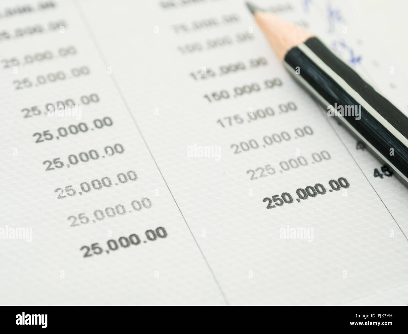The Amount Deposited In The Bank Account Is Growing Steadily Stock Photo Alamy