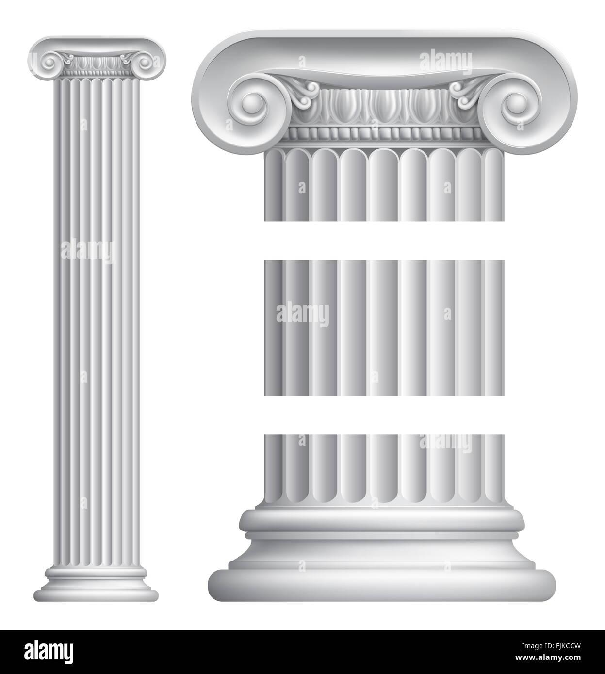 An Illustration Of A Classic Greek Or Roman Ionic Column