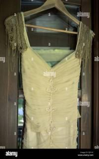 Wedding Dress And Hanger Stock Photos & Wedding Dress And