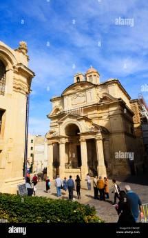 Church St Catherine Valletta Malta Stock &