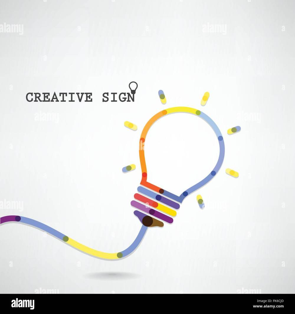medium resolution of creative light bulb idea concept background design for poster flyer cover brochure business idea abstract background vector i