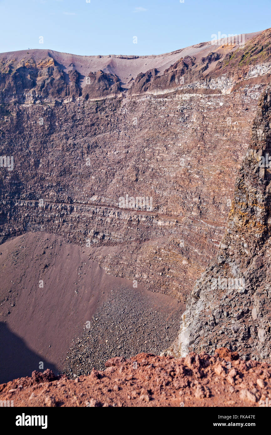 medium resolution of view of mt vesuvius volcano crater stock image