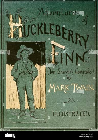 Image result for huckleberry finn book cover original