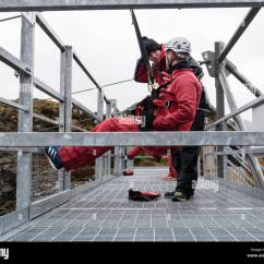 4 Man Zip Wire Wales Unlabeled Heart Diagram Cross Section Having Safety Checks On Platform At Start Of