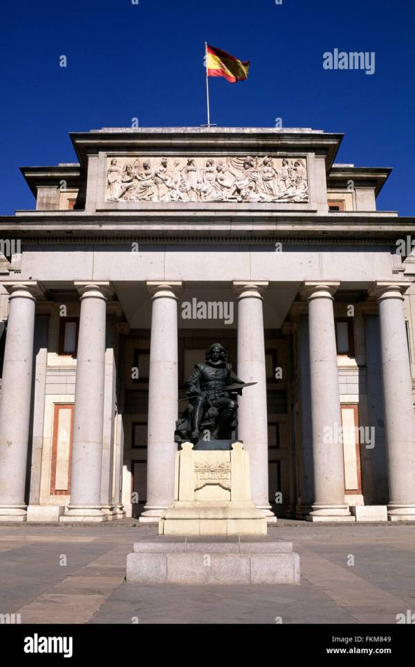 Prado Museum In Madrid Spain Stock &