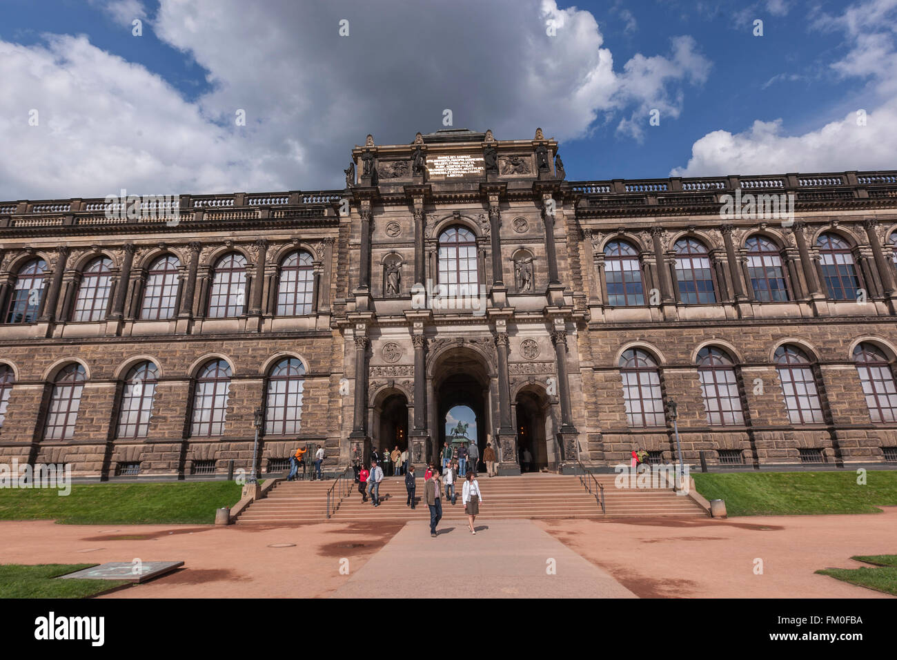 Zwinger Palace From The Courtyard Dresden Saxony Germany