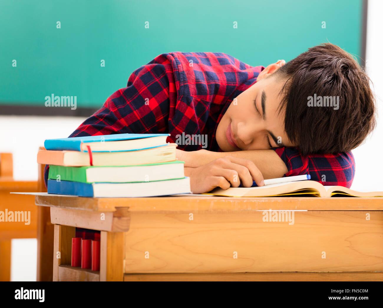 Someone School Desk Sleeping