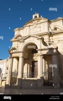Church Of St Catherine Italy In Valletta Malta Stock