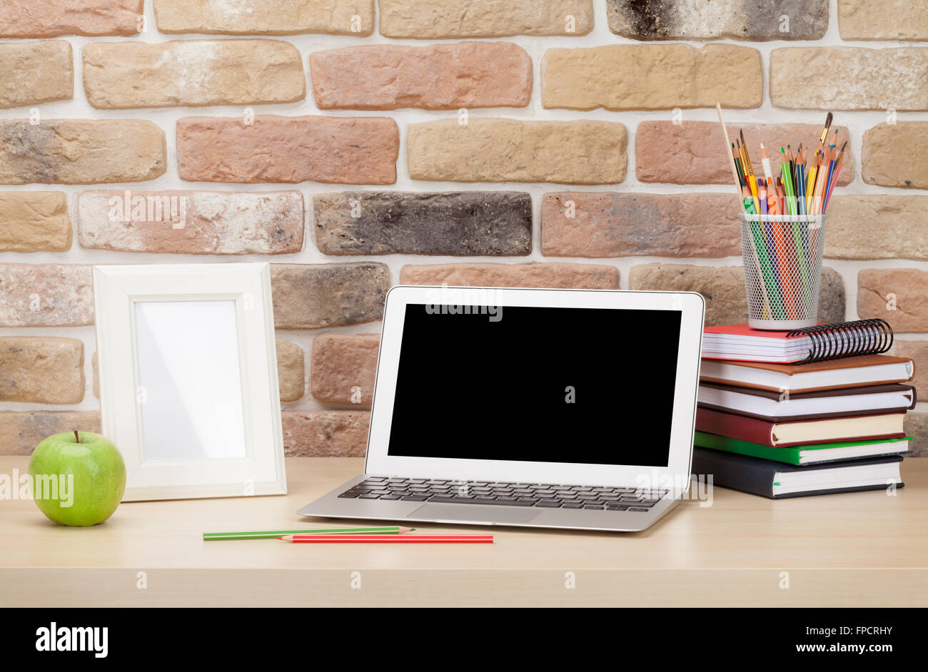 Office Desk And Photo Frame Stock Photos  Office Desk And