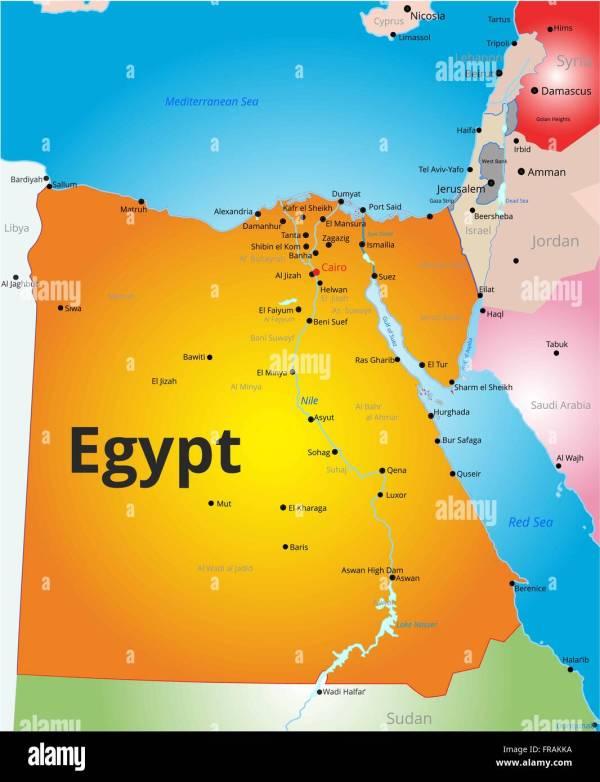 Map Sinai Peninsula Egypt Arabic - Year of Clean Water
