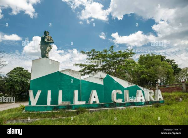 The Sign at the Entrance of Villa Clara Province Villa