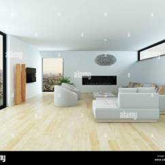 Modern White Living Rooms Room Theaters Fau Phone Number Interior With A Light Parquet Floor Lounge Suite And Large View Window Overlooking City 3d Render