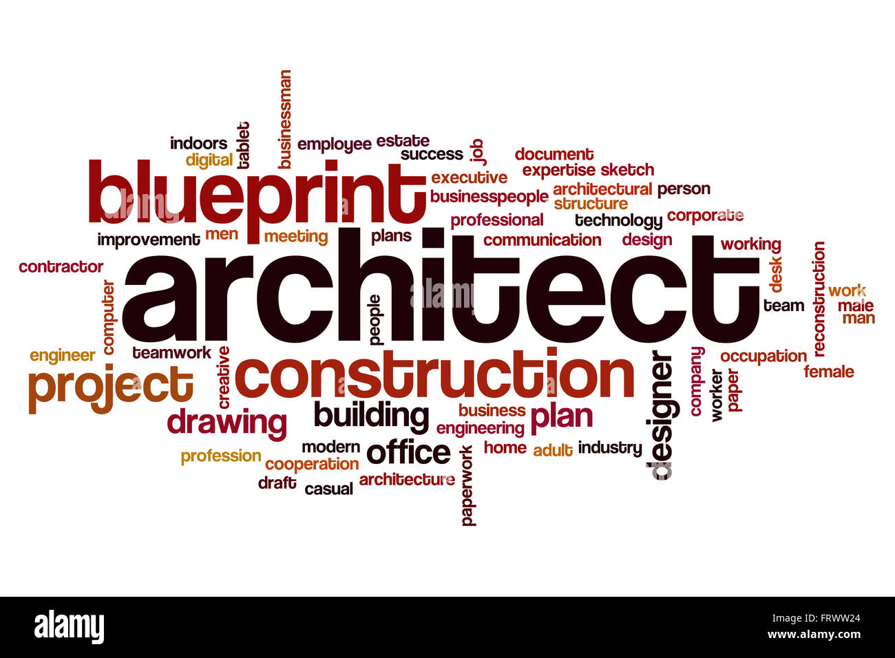 Architect word cloud Stock Photo 100757388  Alamy