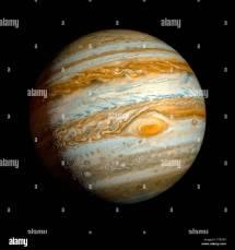 Planet Jupiter Surface Stock &