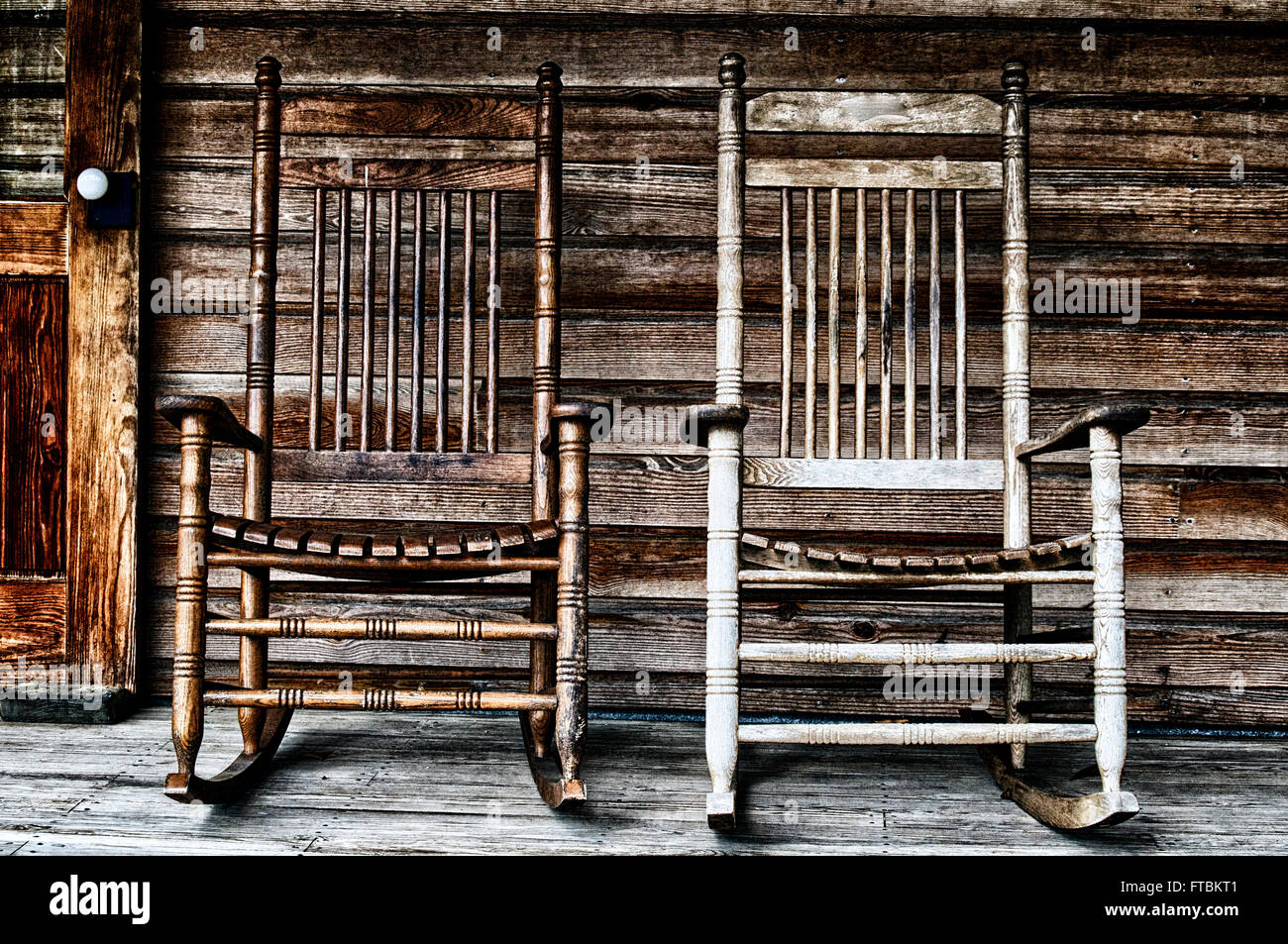 Rocking Chair On Porch Old Stock Photos  Rocking Chair On