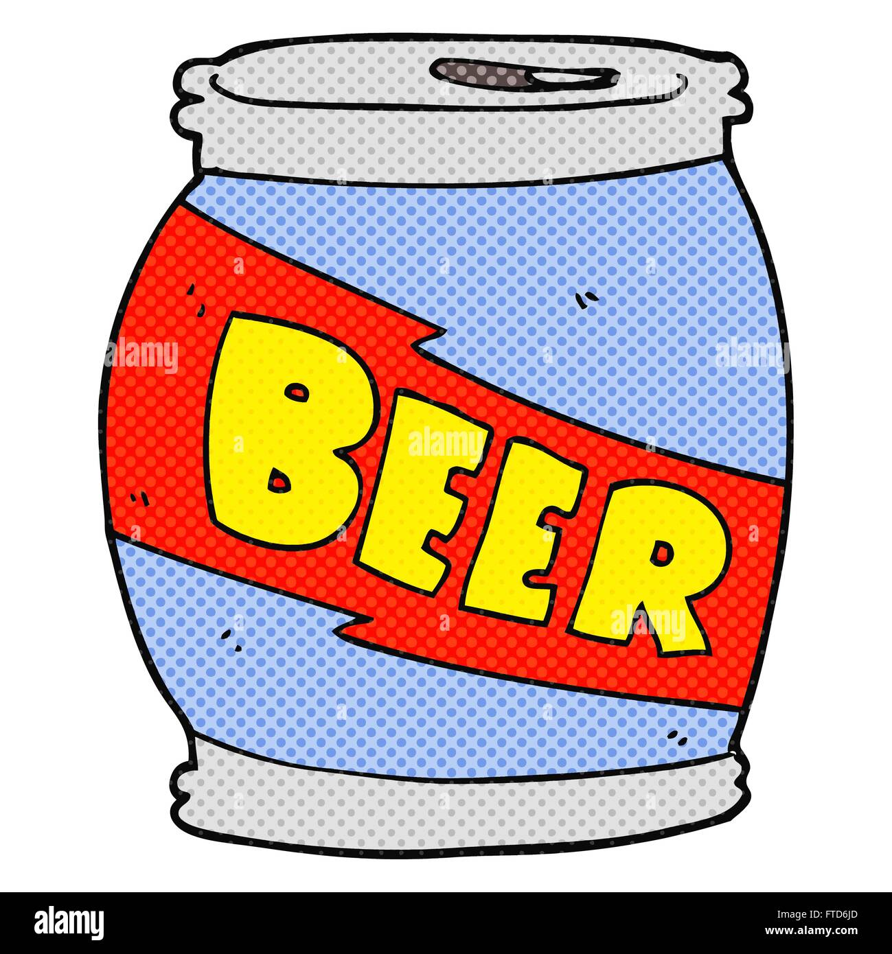 hight resolution of freehand drawn cartoon beer can