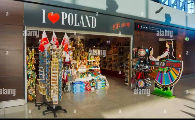 Gift Shop Lech Walesa Airport Gdansk Pomerani Poland