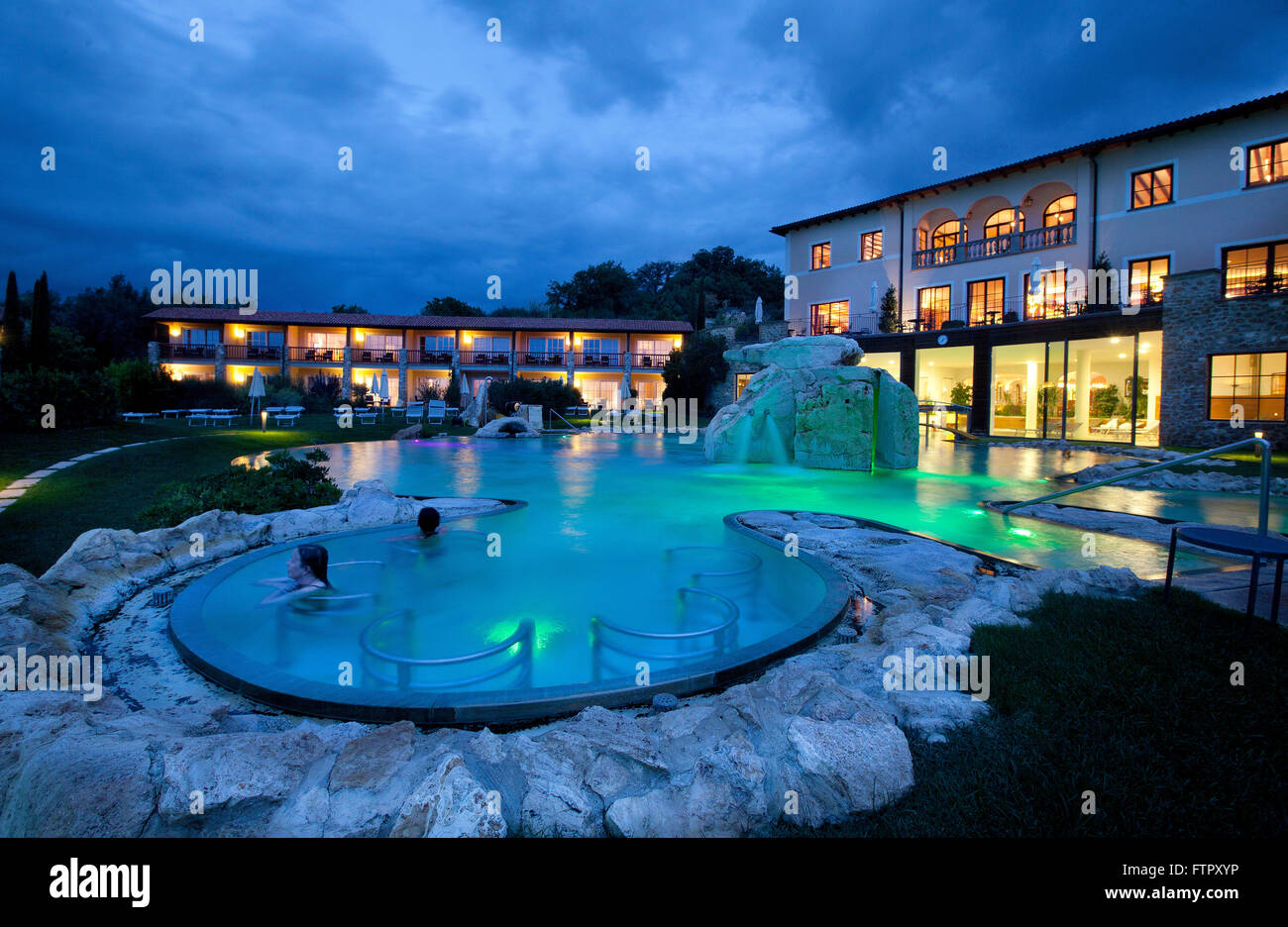 Hotel Adler Thermae Spa  Relax ResortBagno VignoniToscana Stock Photo 101307690  Alamy