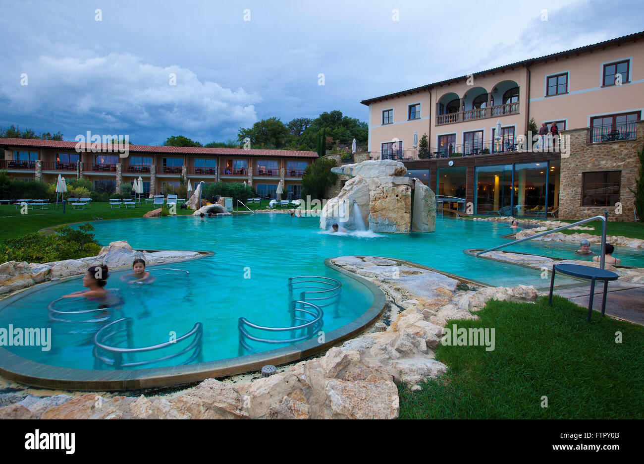 Hotel Adler Thermae Spa  Relax ResortBagno VignoniToscana Stock Photo 101307707  Alamy