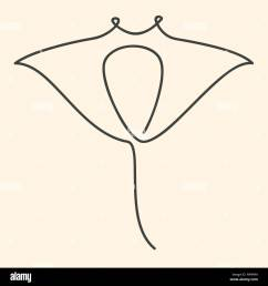 one line manta ray illustration [ 1300 x 1390 Pixel ]