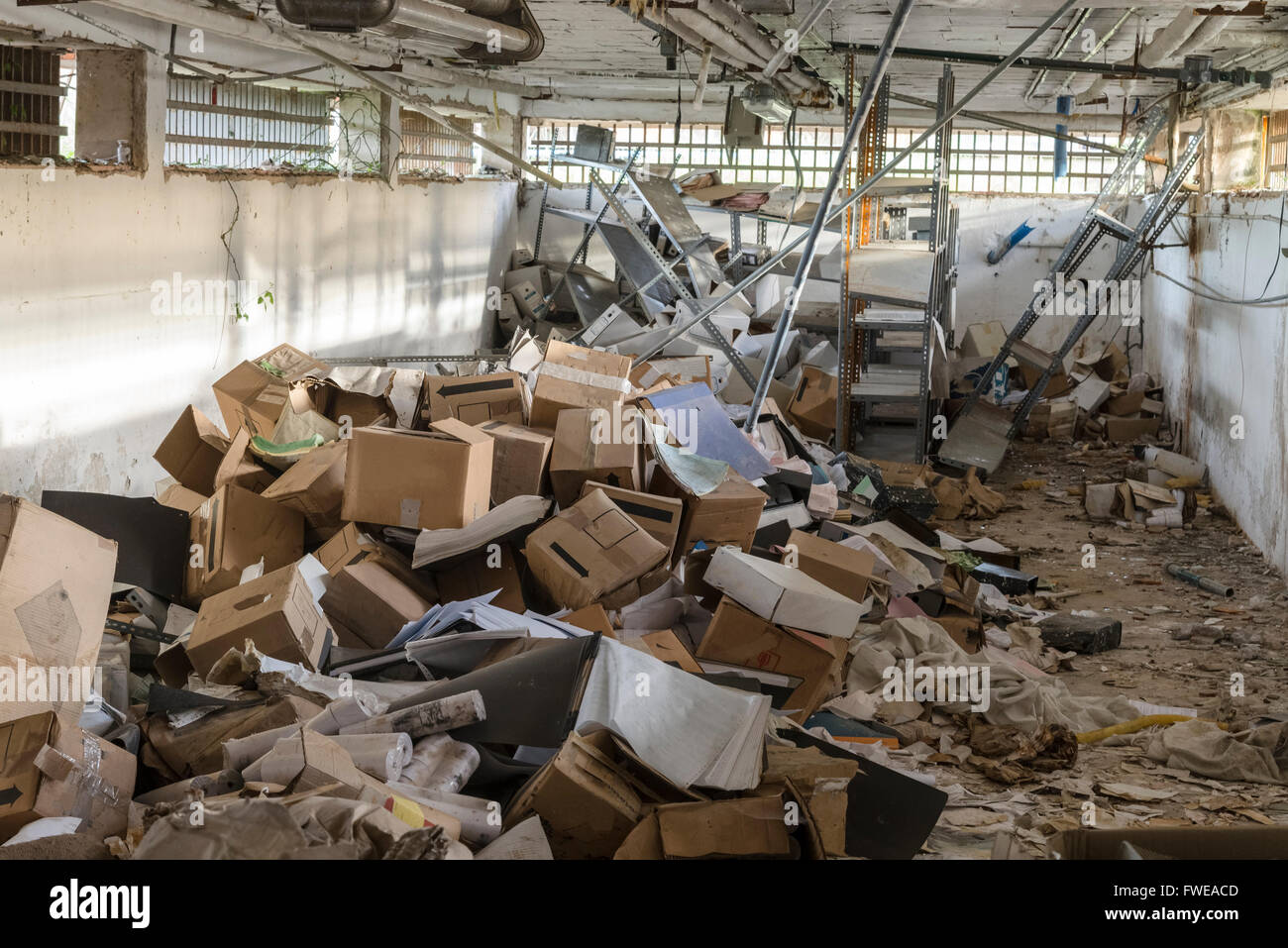 sell office chairs rocking swing chair messy warehouse stock photo: 101733757 - alamy