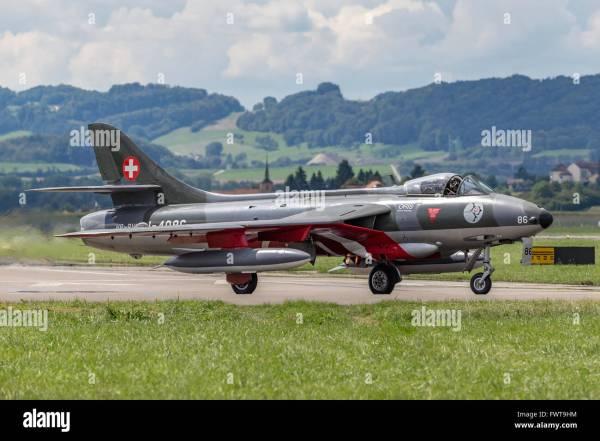Swiss Air Force Hawker Hunter .58 Fighter Aircraft