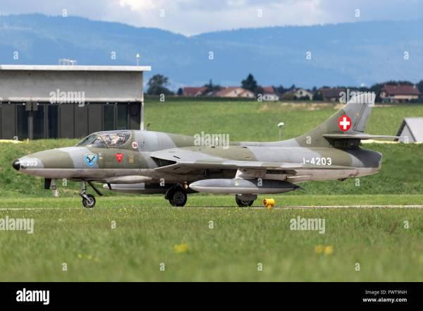 Swiss Air Force Hawker Hunter Stock &