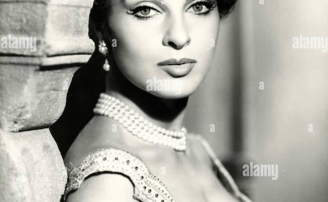 The Italian Actress Silvana Pampanini Stock Photo Royalty