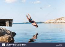 Man Jumping into Lake Erir