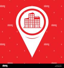 Map Pointer Hotel Icon Stock Vector Art & Illustration