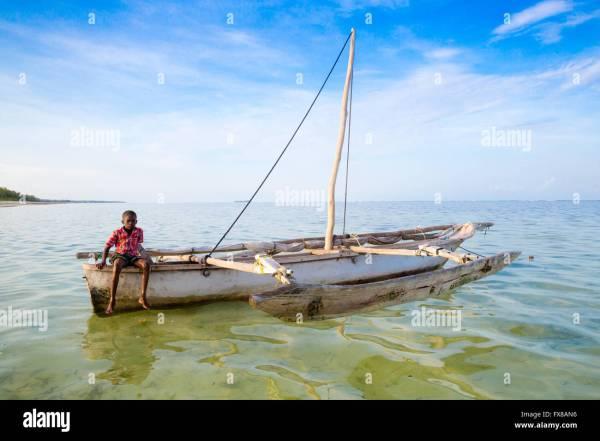 Stern Wooden Boat Stock &