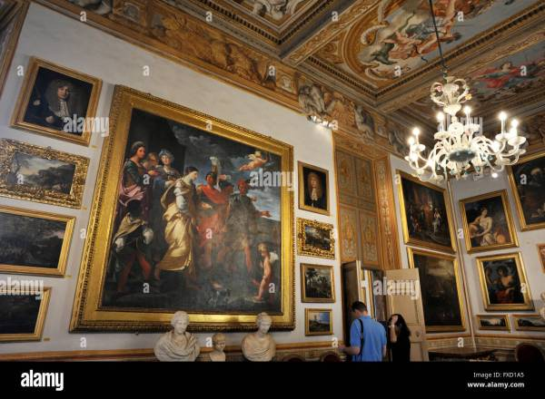 Italy Rome Palazzo Spada Galleria Art Stock Royalty Free