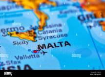 Islands in Malta Europe World Map