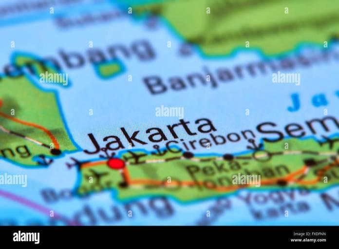 Jakarta Capital City Of Indonesia On The World Map Stock Photo Alamy