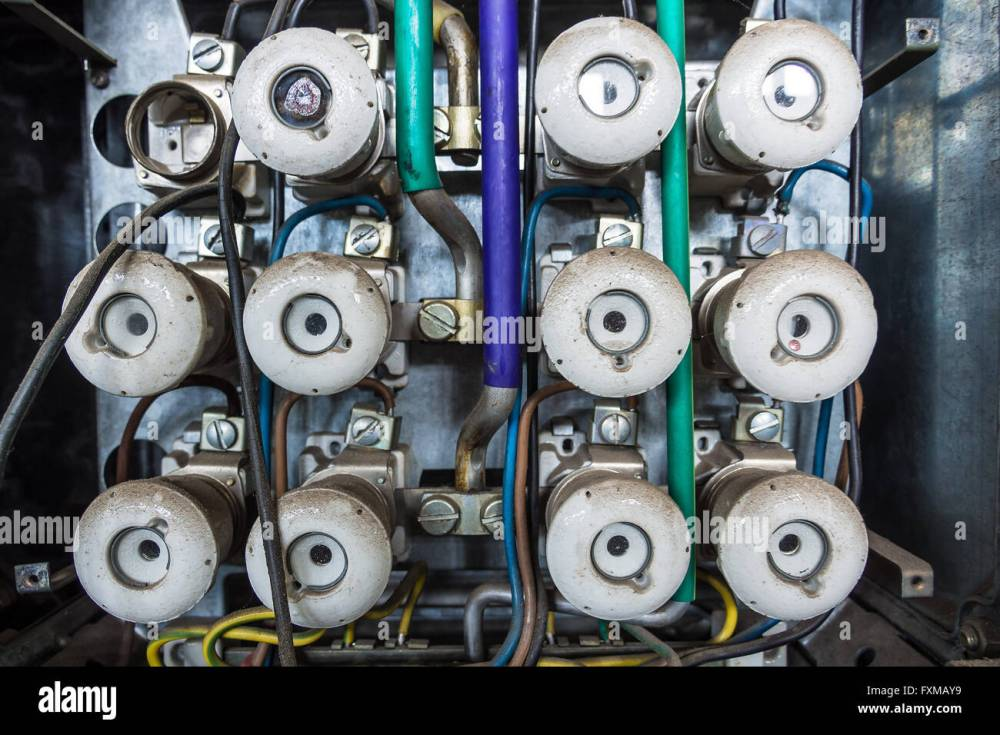 medium resolution of an old fuse box out of order stock image