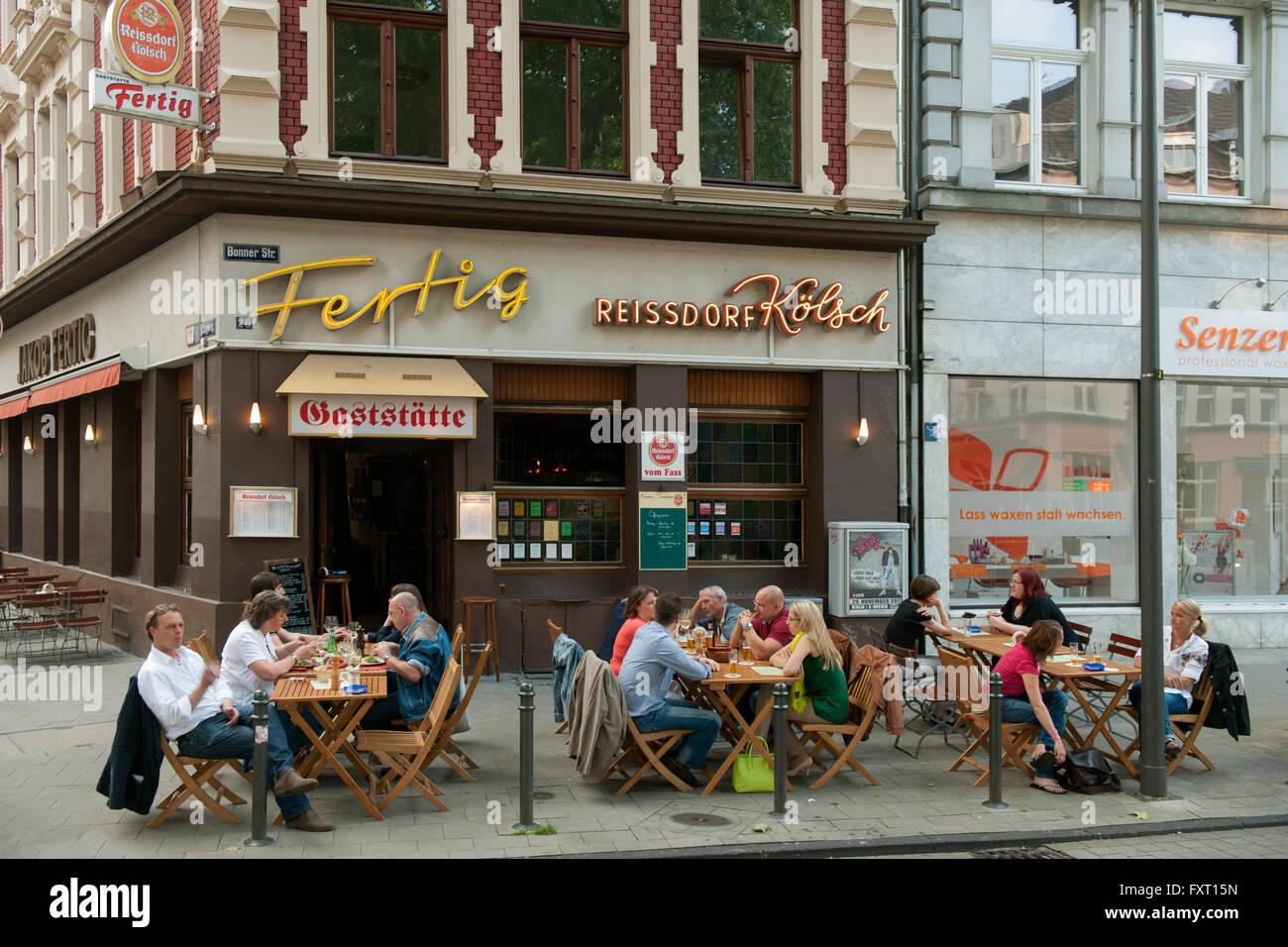 Kln Sdstadt Bonner Strasse 26 Restaurant Fertig Stock