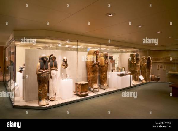Metropolitan Museum Of Art. Egyptian Wing Stock