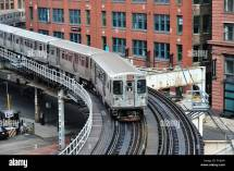 Cta Brown Line Train Snakes Pair Of