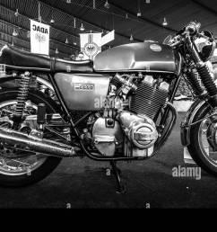 the serial model motorcycle laverda 1000 1 1972 stock image [ 1300 x 875 Pixel ]