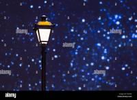 Street lamp night sky stars Stock Photo, Royalty Free ...
