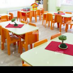 Daycare Tables And Chairs Waiting Room With Arms Kindergarten Classroom Small Stock