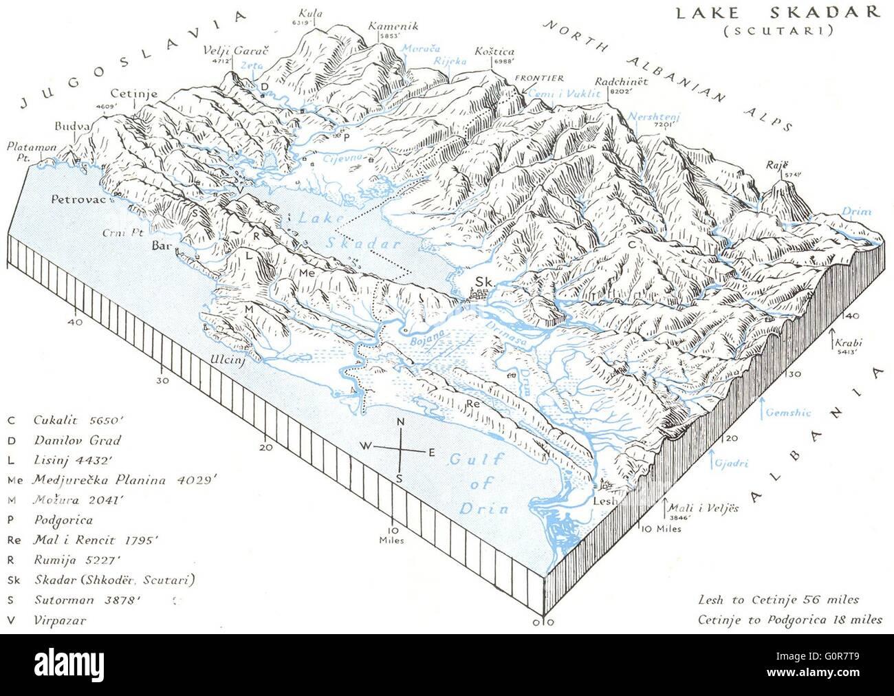 Lake Skadar Block Diagram S Coasts Uskudar Vintage